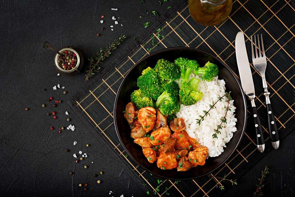 curry rice with turkey - Curry Reis mit Putenfleisch