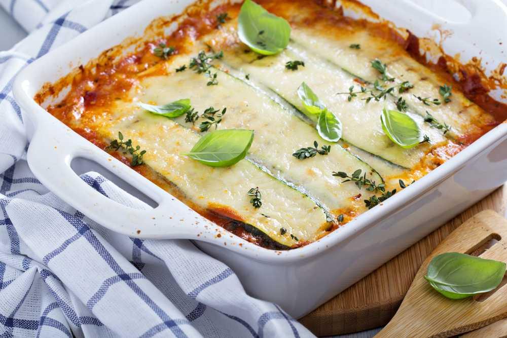 Zucchini Lasagne mit Mozzarella