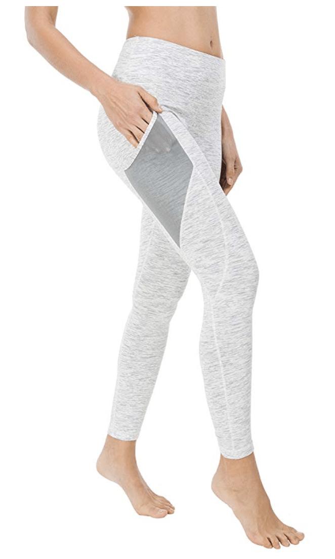 Yoga-Leggings mit hohem Bund und weichen Nähten – für ultimativen Komfort und Vermeidung von Druckstellen.